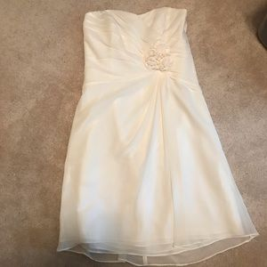 NWT Alfred Angelo White Wedding Bridesmaid Dress